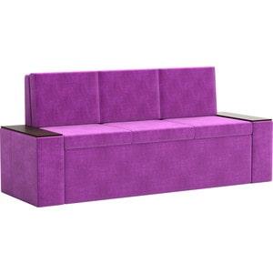 Кухонный диван Мебелико Лина Микровельвет (фиолетовый)