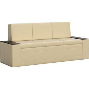 Кухонный диван Мебелико Лина эко-кожа (бежевый)