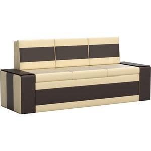 Кухонный диван АртМебель Лина эко-кожа (бежево/коричневый) цены