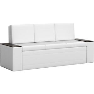 Кухонный диван АртМебель Лина эко-кожа (белый)