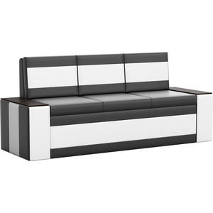 Кухонный диван Мебелико Лина эко-кожа (черно/белый)