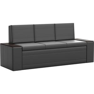 Кухонный диван АртМебель Лина эко-кожа (черный)