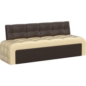 Кухонный диван АртМебель Люксор эко-кожа (бежево/коричневый)