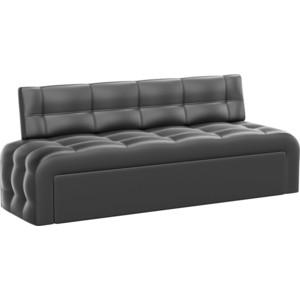 Кухонный диван АртМебель Люксор эко-кожа (черный)