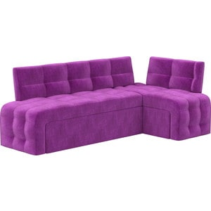 Кухонный угловой диван Мебелико Люксор микровельвет (фиолетовый) угол правый прямой кухонный раскладной диван для маленькой кухни мебелико кухонный диван люксор микровельвет