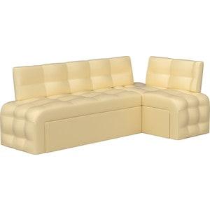 Кухонный угловой диван Мебелико Люксор эко-кожа (бежевый) угол правый кухонный угловой диван мебелико деметра эко кожа бежевый правый угол