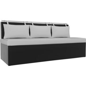 Кухонный диван Мебелико Метро эко-кожа белый-черный