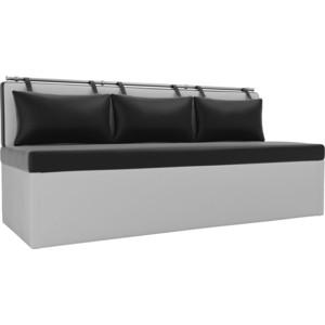 Кухонный диван Мебелико Метро эко-кожа черно-белый