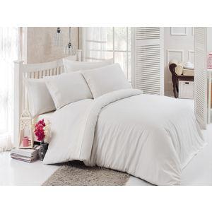 Комплект постельного белья Do and Co Евро, сатин с гипюром, Narin кремовый (9291кремовый) цена