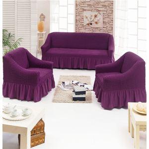 Набор чехлов для мягкой мебели 3 предмета Juanna баклажан (7565баклажан)