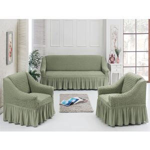 Набор чехлов для мягкой мебели 3 предмета Juanna хаки (7565хаки) набор чехлов для мягкой мебели 3 предмета bulsan 1717 char011
