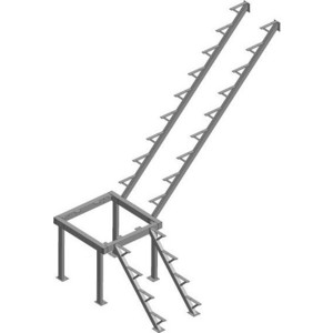 Металлокаркас ЛЕСЕНКА ЛЕС-05 H-2760 мм. (ЛЕС-05-К)