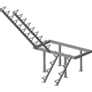 Металлокаркас ЛЕСЕНКА ЛЕС-06 H-2760 мм. (ЛЕС-06-К)