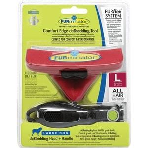Фурминатор FURminator FURflex deShedding Tool L Comfort Edge Large Dog All Hair против линьки для собак крупных пород с любой длиной шерсти