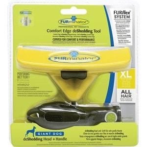 Фурминатор FURminator FURflex deShedding Tool XL Comfort Edge Giant Dog All Hair против линьки для собак гигантских пород с любой длиной шерсти