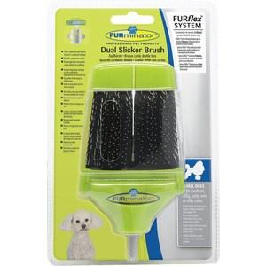 Пуходерка-насадка FURminator FURflex Dual Slicker Brush Small Dogs двухсторонняя для собак мелких пород с любой длиной шерсти