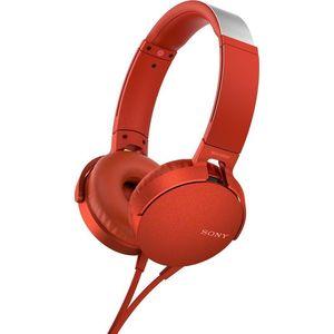 Наушники Sony MDR-XB550AP red цена и фото