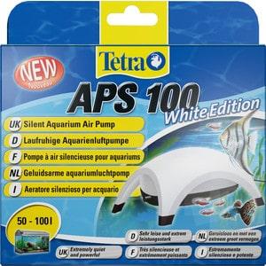 Компрессор Tetra APS 100 Silent Aquarium Air Pomp White Edition для аквариумов 50-100л (белый) tetra компрессор tetra aрs 100 для аквариумов 50 100 л