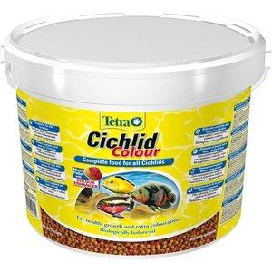 Корм Tetra Cichlid Colour Complete Food for All Cichlids улучшение окраса для всех видов цихлид 10л фото