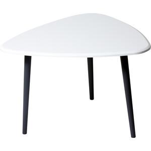 Стол журнальный Калифорния мебель Квинс белый