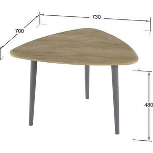 Стол журнальный Калифорния мебель Квинс дуб сонома