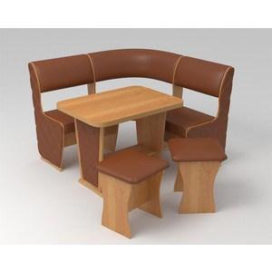 Кухонный уголок Маэстро Консул Мини Лайт ольха/коричневый с накладками
