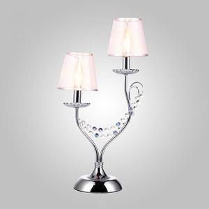 Настольная лампа Eurosvet 01069/2 хром/прозрачный хрусталь Strotskis