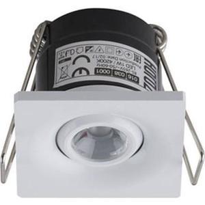 Встраиваемый светодиодный светильник Horoz 1W 4200К белый 016-038-0001 встраиваемый светодиодный светильник horoz natalia зеленый 016 001 0001 hl815l