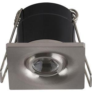 Встраиваемый светодиодный светильник Horoz 1W 4200К матовый хром 016-038-0001 встраиваемый светодиодный светильник horoz natalia зеленый 016 001 0001 hl815l