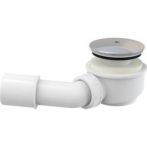 Сифон для душевого поддона AlcaPlast D60 хром заниженный, пластик хром (A471CR-60)