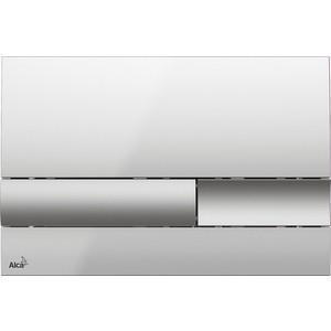 Фото - Кнопка смыва AlcaPlast хром-глянцевая/матовая (M1743) клавиша смыва alcaplast хром глянцевая m1741