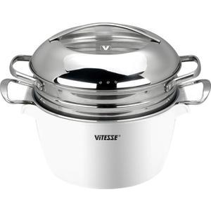 Кастрюля 24 см / 4.5л Vitesse (VS-2299 WHT) цена