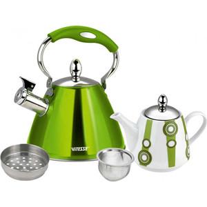Набор чайников Vitesse (VS-7812 GREEN) мультиварка vitesse vs 576