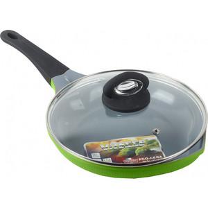Сковорода с крышкой d 24см Vitesse Peach (VS-2529 зеленый) доска для сыра с ножом vitesse vs 8629