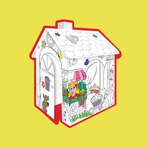 Mochtoys Картонный домик -раскраска