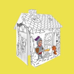 Mochtoys Картонный домик-раскраска Рыцарь