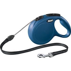 Рулетка Flexi New Classic M трос 8м синяя для собак до 20кг