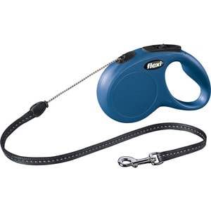 Рулетка Flexi New Classic S трос 5м синяя для собак до 12кг