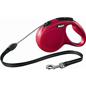 Рулетка Flexi New Classic S трос 8м красная для собак до 12кг поводок рулетка усиленная пижон 8м красная