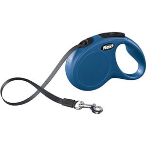Рулетка Flexi New Classic S лента 5м синяя для собак до 15кг