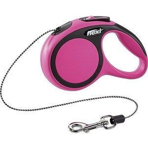 Рулетка Flexi New Comfort XS трос 3м черный/розовый для собак до 8кг рулетка flexi new comfort xs трос 3м черный розовый для собак до 8кг