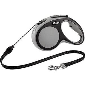Рулетка Flexi New Comfort М трос 5м черный/серый для собак до 20кг цена и фото
