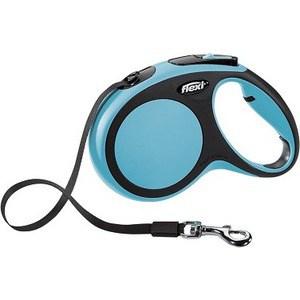 Рулетка Flexi New Comfort М лента 5м черный/синий для собак до 25кг