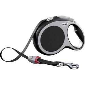 Рулетка Flexi VARIO L лента 8м антрацит для собак до 50кг поводок рулетка усиленная пижон 8м красная