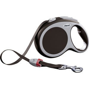 Рулетка Flexi VARIO L лента 8м коричневая для собак до 50кг цена и фото