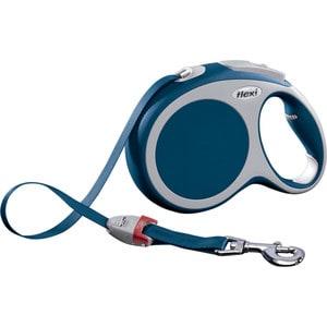Рулетка Flexi VARIO L лента 8м синяя для собак до 50кг поводок рулетка усиленная пижон 8м красная