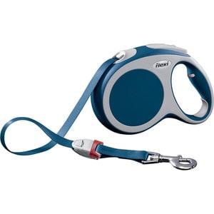 Рулетка Flexi VARIO L лента 5м синяя для собак до 60кг