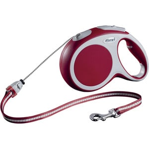 Рулетка Flexi VARIO M трос 8м красная для собак до 20кг поводок рулетка усиленная пижон 8м красная
