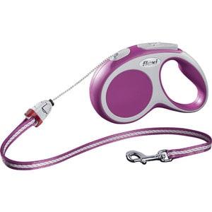 Рулетка Flexi VARIO S трос 5м розовая для собак до 12кг