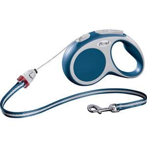 Рулетка Flexi VARIO S трос 5м синяя для собак до 12кг цена и фото
